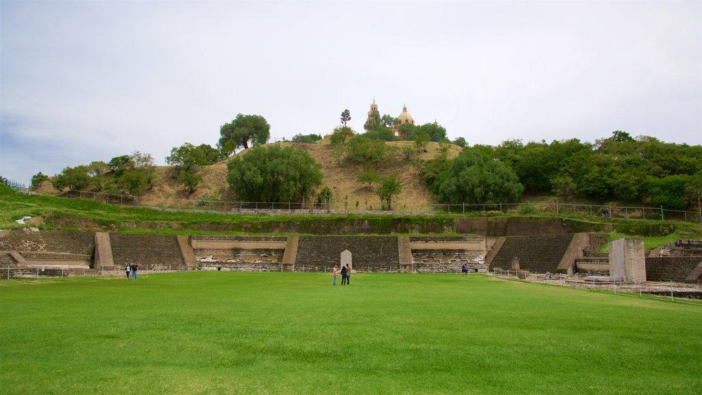 San Andrés Cholula showing a park