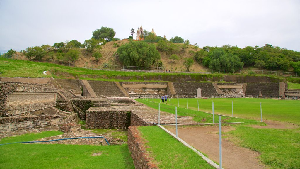 Great Pyramid of Cholula which includes heritage elements and building ruins