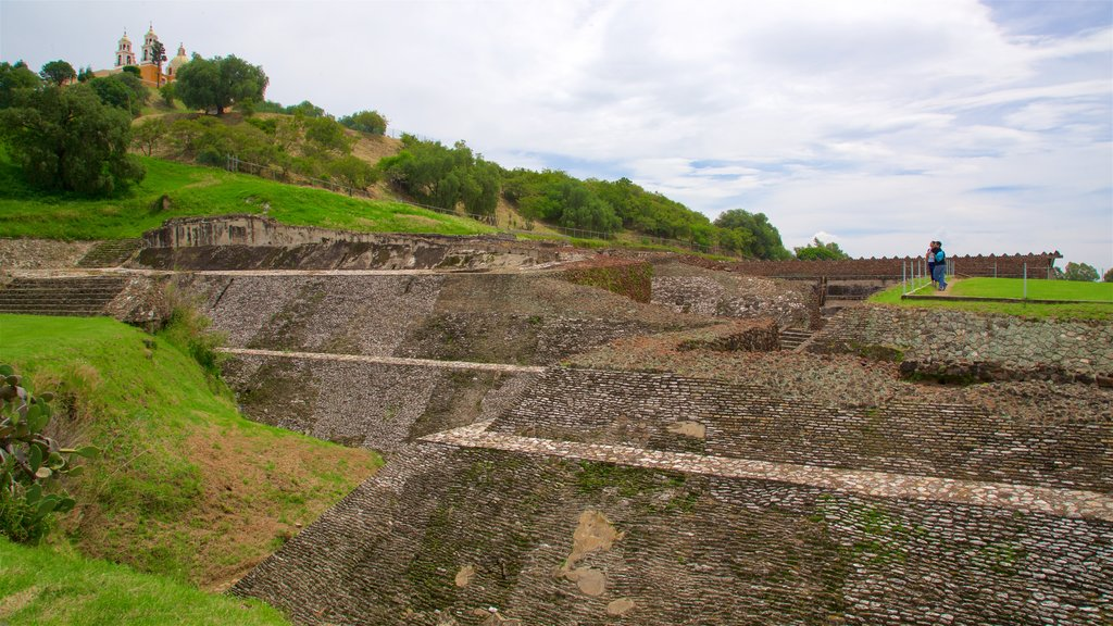 Great Pyramid of Cholula which includes building ruins and heritage elements