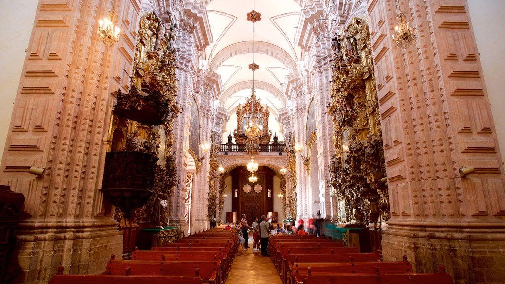 Santa Prisca Cathedral featuring heritage elements, a church or cathedral and interior views