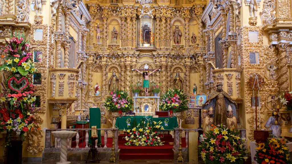 Puebla featuring heritage elements, a church or cathedral and interior views