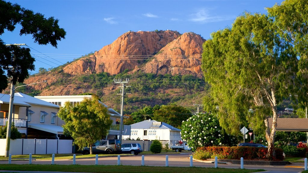 Townsville featuring a small town or village and mountains