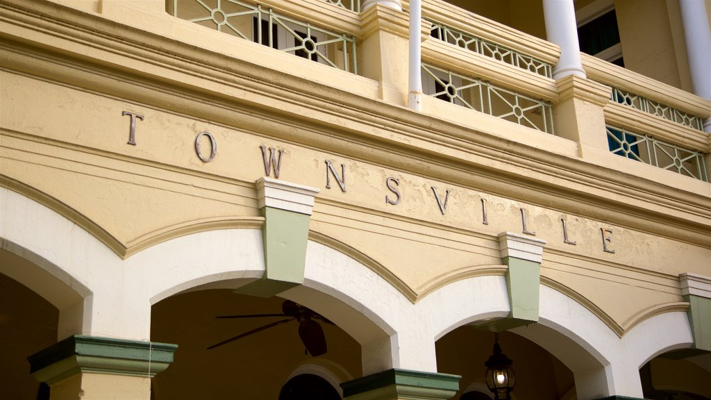 Townsville featuring signage and heritage elements
