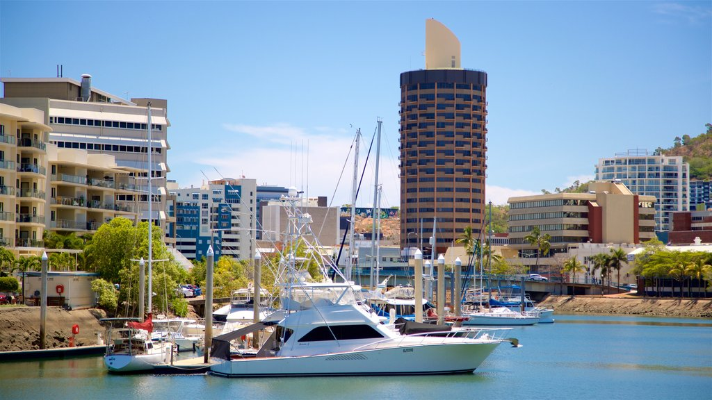 Townsville which includes a city and a bay or harbor