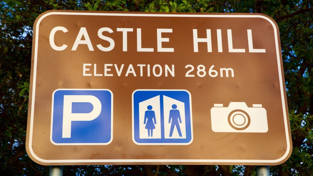Castle Hill featuring signage