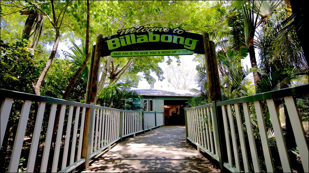 Billabong Sanctuary featuring a bridge and signage