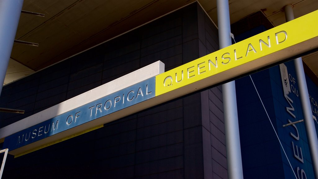 Museum of Tropical Queensland which includes signage
