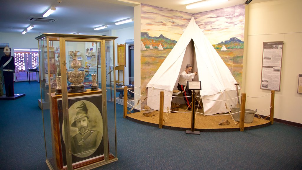 Army Museum North Queensland showing interior views