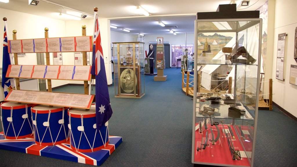 Army Museum North Queensland which includes interior views