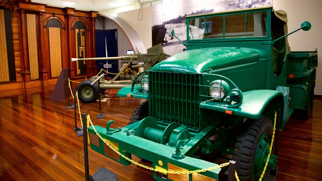Army Museum North Queensland showing heritage elements, military items and interior views