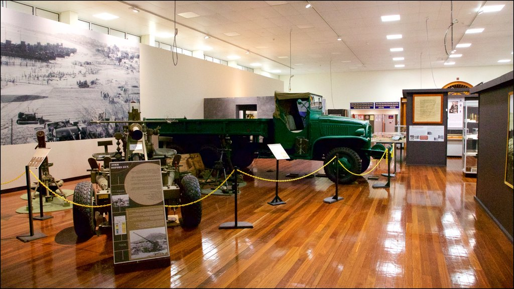Army Museum North Queensland showing military items, interior views and heritage elements