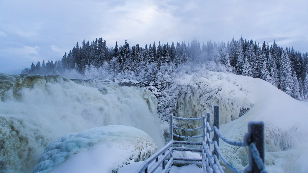 Are which includes snow and a cascade