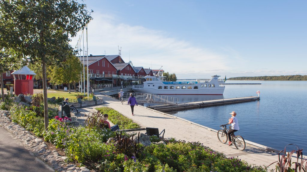 Lulea which includes a bay or harbor and a garden