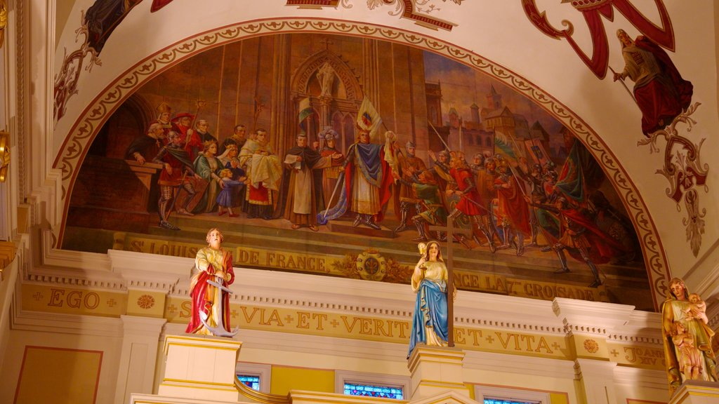 Saint Louis Cathedral showing interior views, a church or cathedral and religious elements
