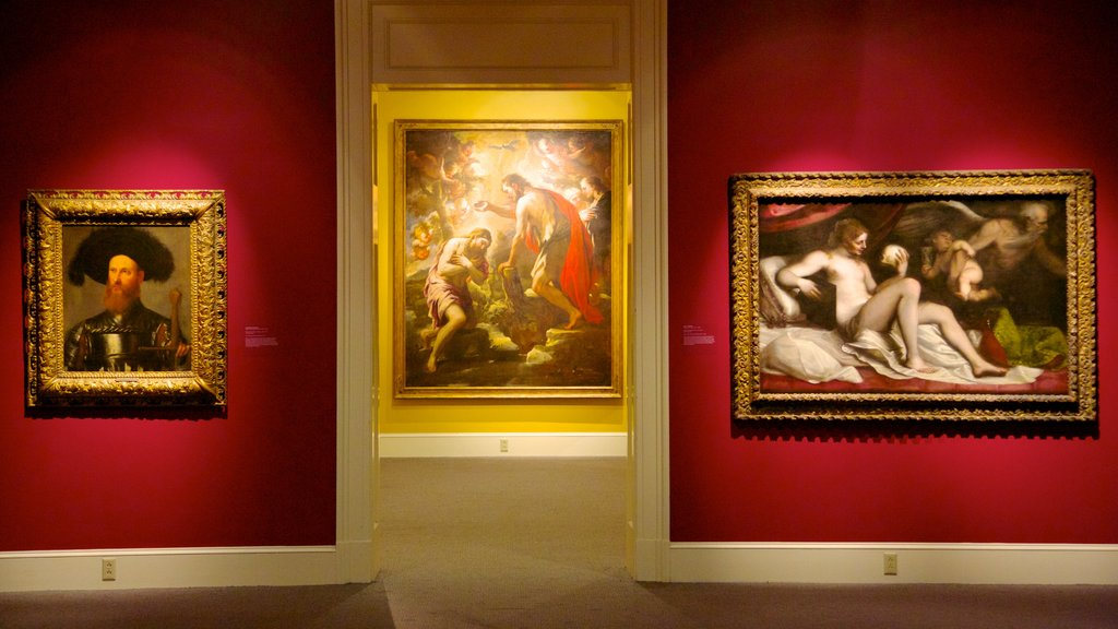 New Orleans Museum of Art which includes art and interior views