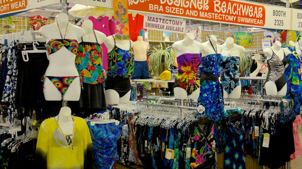 Festival Flea Market mostrando mercados, vistas a la ciudad y señalización