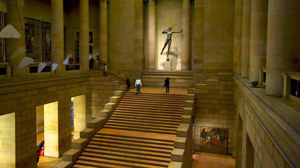 Philadelphia Museum of Art showing a memorial, interior views and art