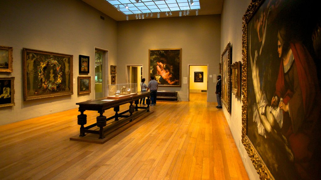 Philadelphia Museum of Art featuring art and interior views