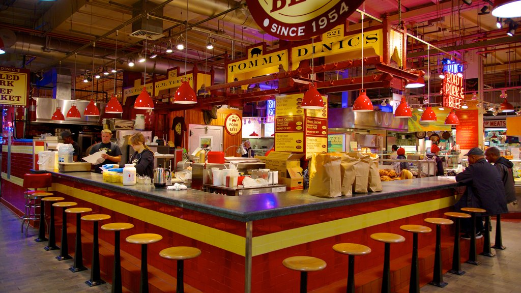 Reading Terminal Market showing markets and interior views