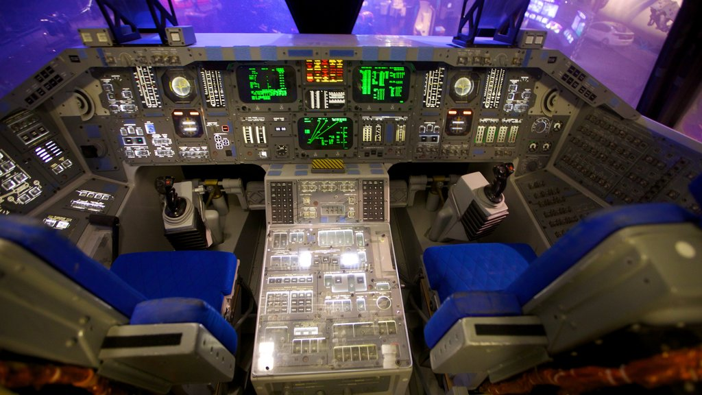 Space Center Houston which includes aircraft and interior views