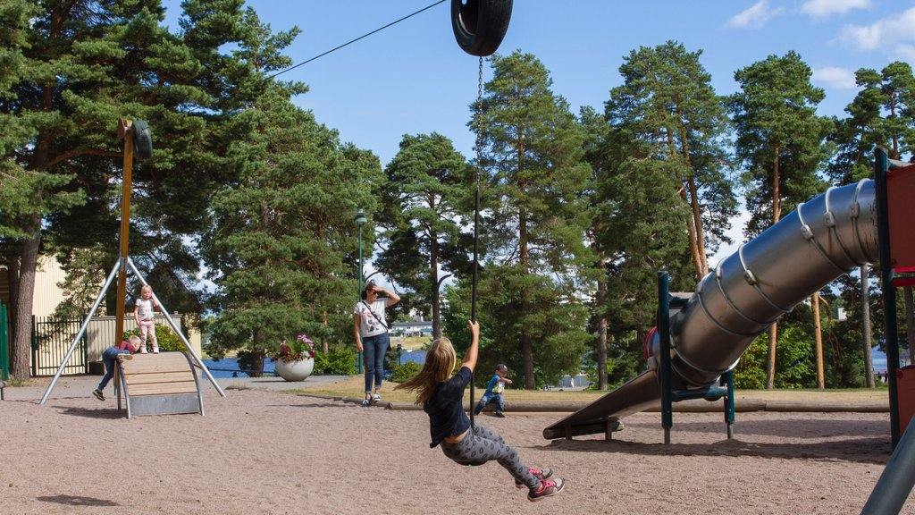 Karlstad showing a playground as well as children