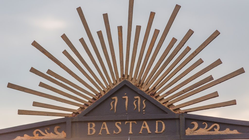 Bastad showing signage