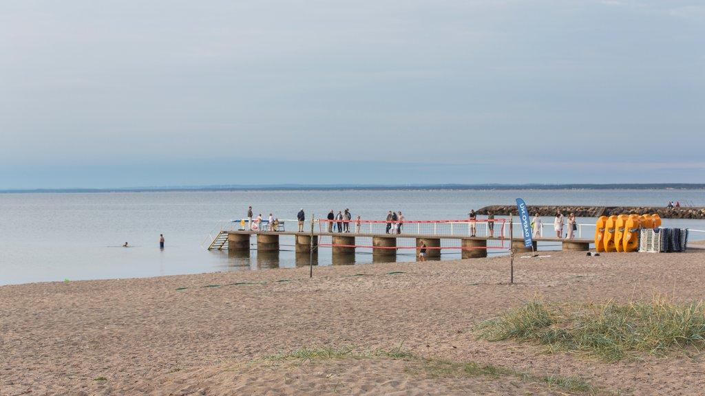Bastad mostrando vistas generales de la costa y una playa