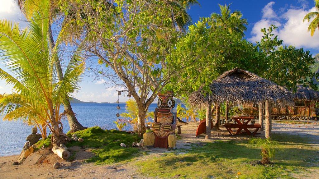 Bora Bora which includes a sandy beach, tropical scenes and general coastal views