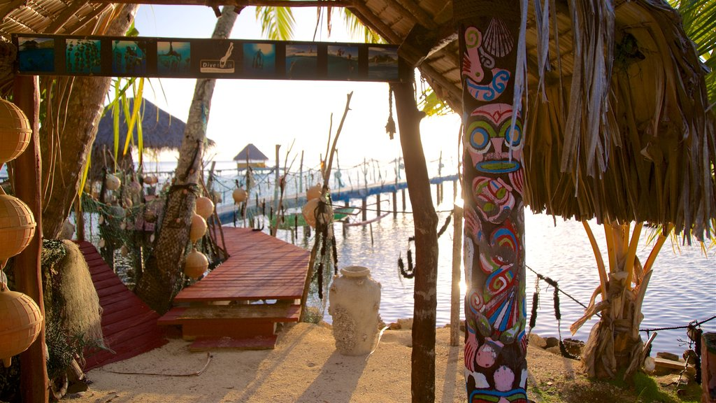 Bora Bora which includes indigenous culture, general coastal views and a beach