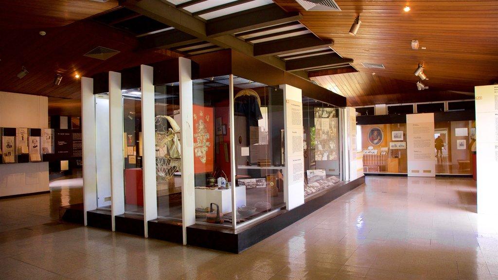 Museo de Tahití mostrando vistas interiores