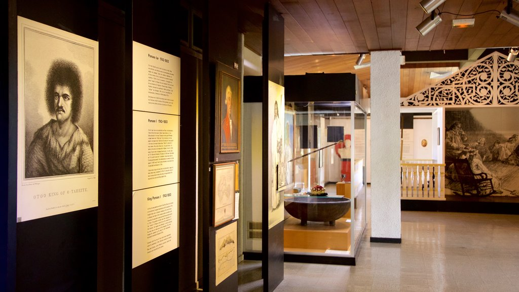 Museum of Tahiti which includes interior views