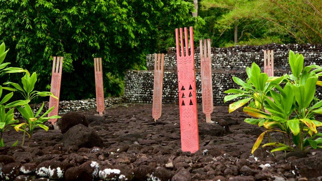 Templo Marae Arahurahu mostrando un parque