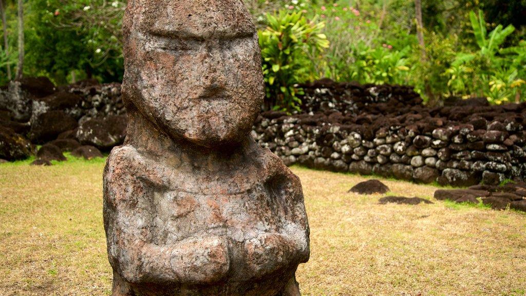 Templo Marae Arahurahu mostrando un parque y cultura indígena
