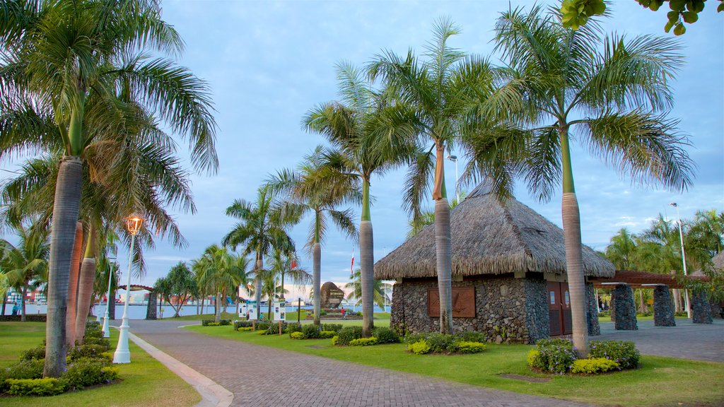 Papeete showing tropical scenes and a park