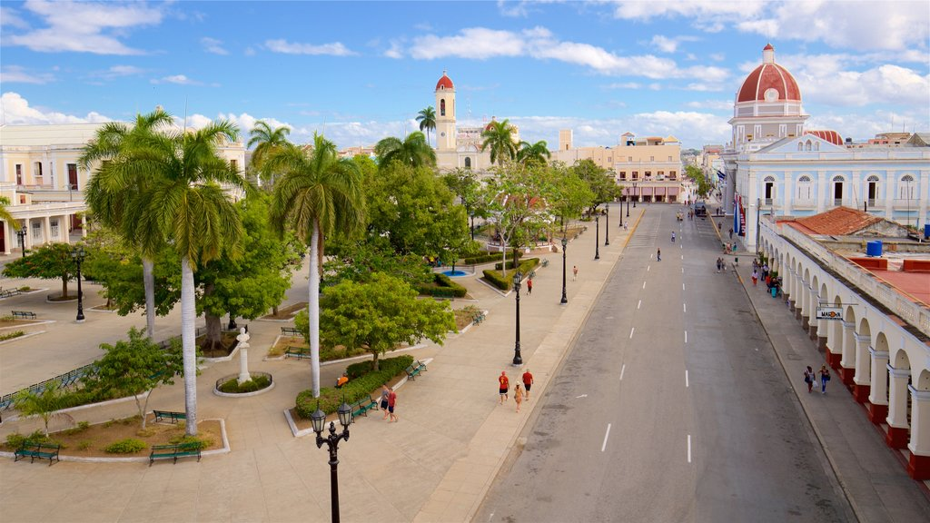 Cienfuegos which includes a garden and a city