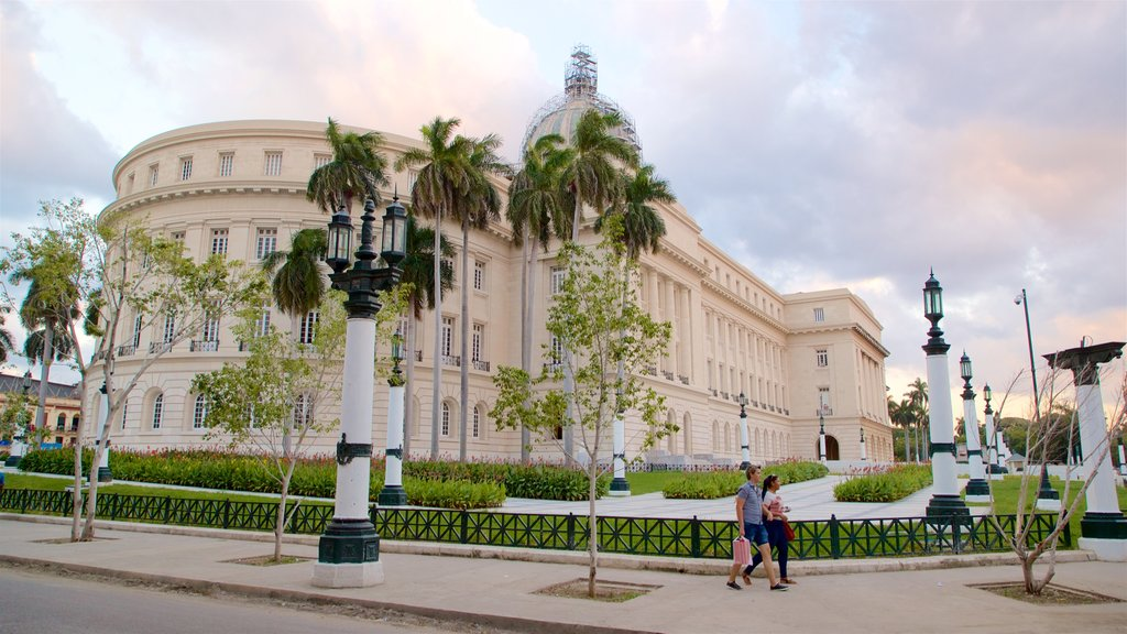 Capitolio Nacional which includes a sunset, a park and heritage architecture