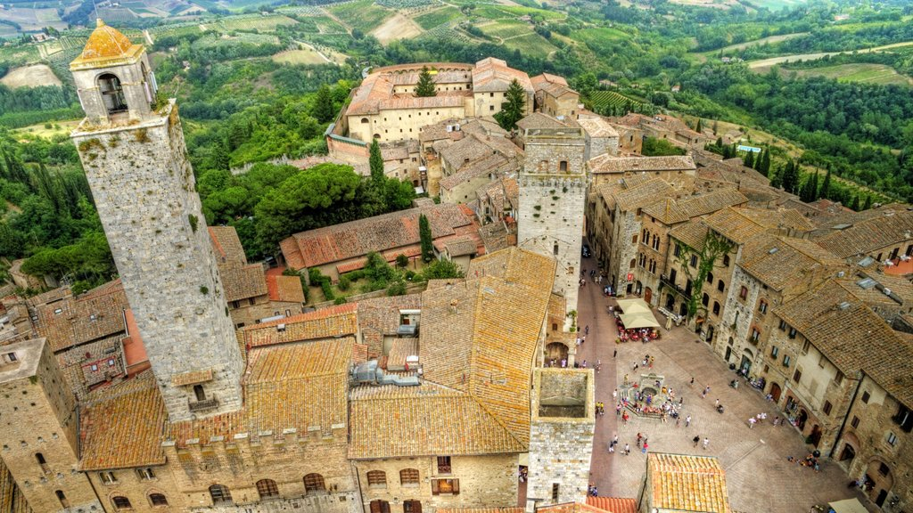 San Gimignano which includes heritage elements