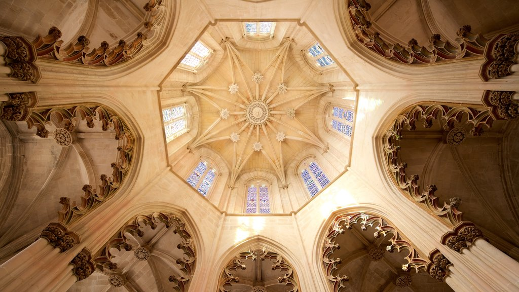 Batalha Monastery which includes interior views