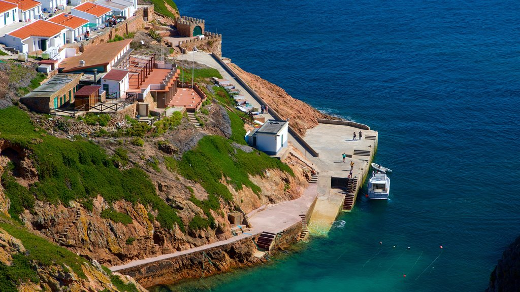 Berlenga Island featuring a coastal town and general coastal views