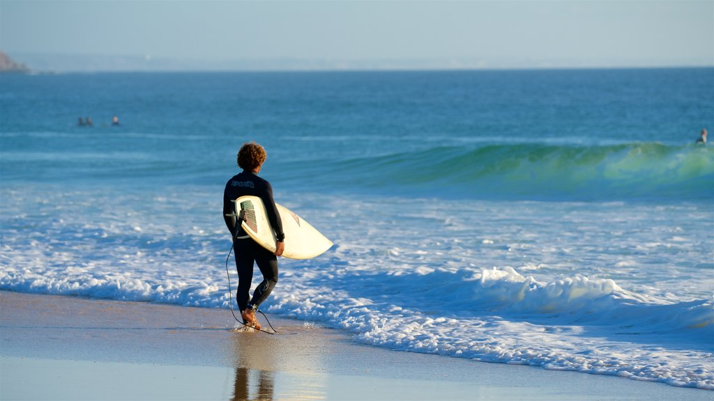 Peniche featuring a sandy beach, surfing and surf