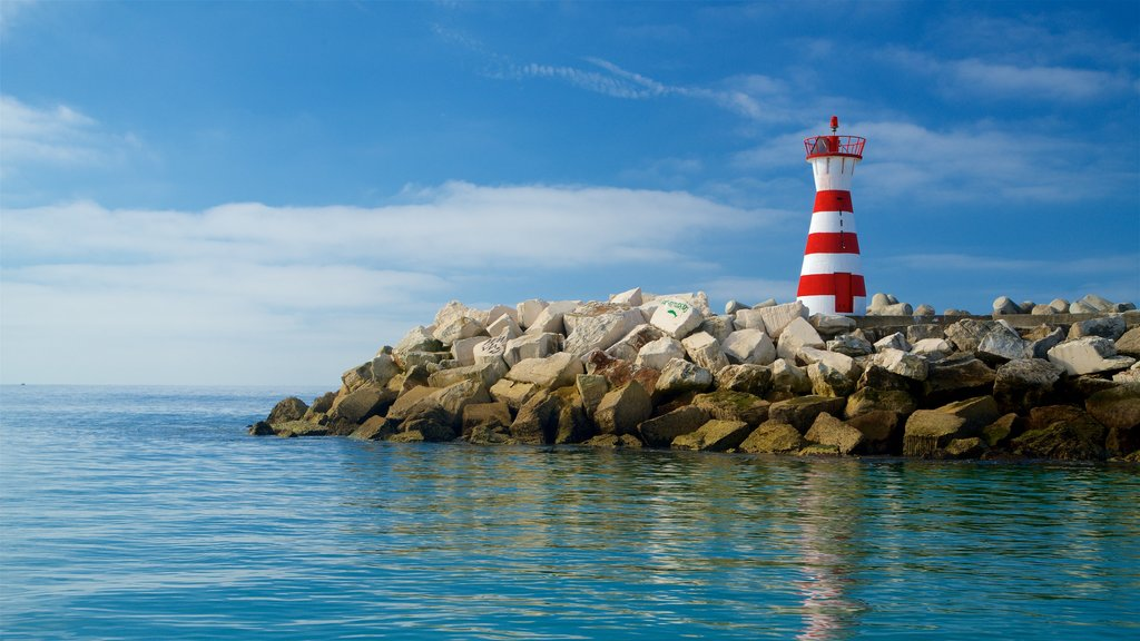 Peniche which includes rugged coastline, general coastal views and a lighthouse