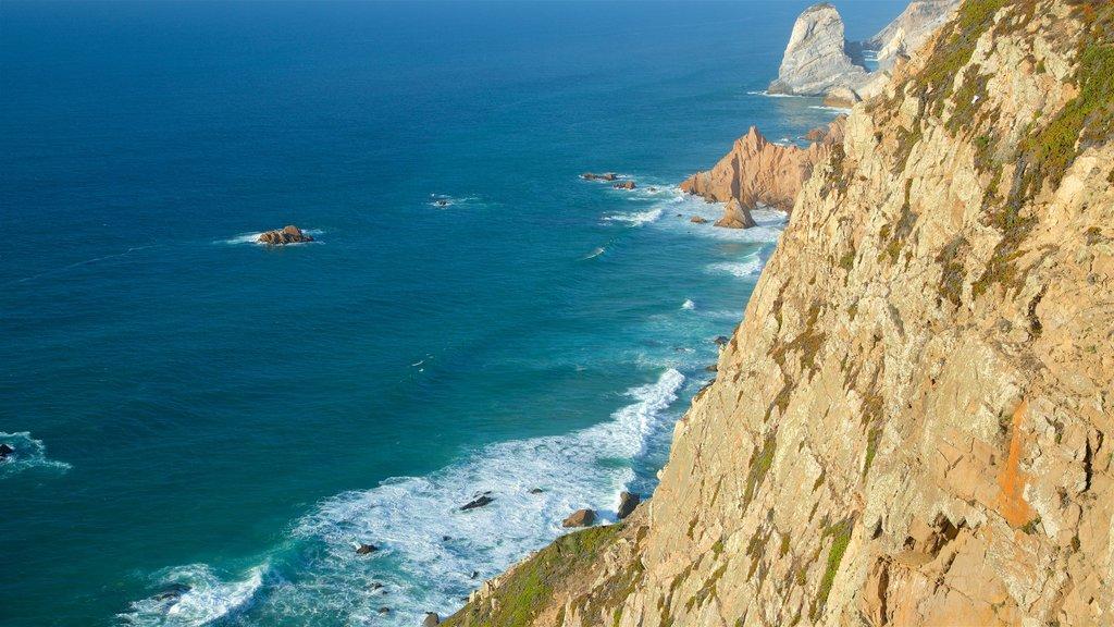 Cape Roca featuring rocky coastline and general coastal views