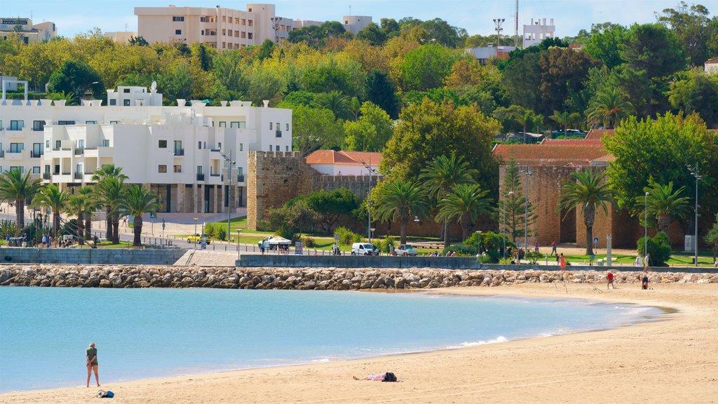 Meia Praia Beach which includes general coastal views and a beach