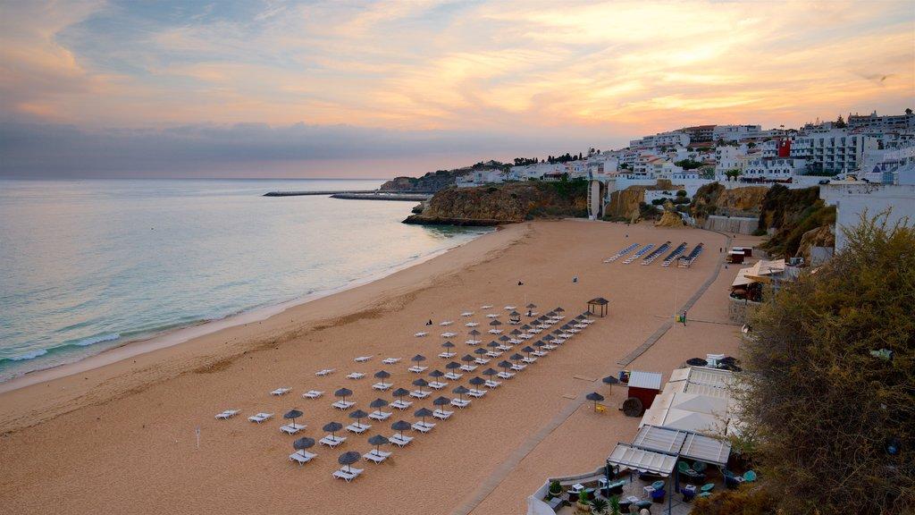 Fisherman\'s Beach featuring a sunset, a coastal town and a sandy beach