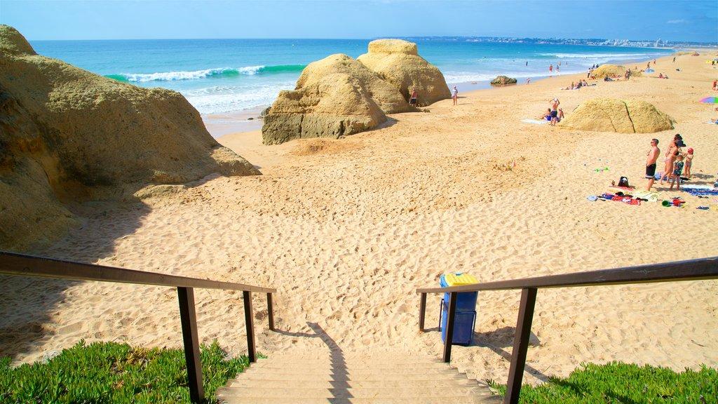 Gale Beach showing waves, rocky coastline and general coastal views