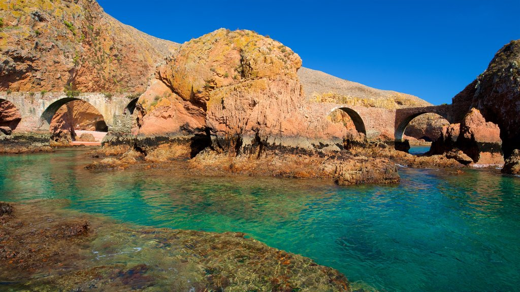 Berlenga Island showing rugged coastline, general coastal views and heritage elements