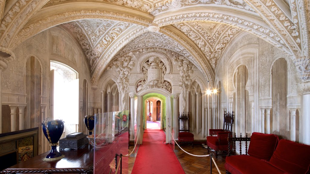 Pena Palace which includes interior views and heritage elements