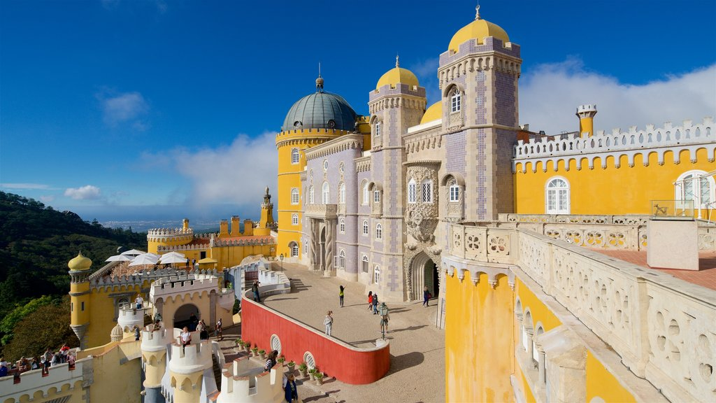 Pena Palace showing heritage elements and a castle