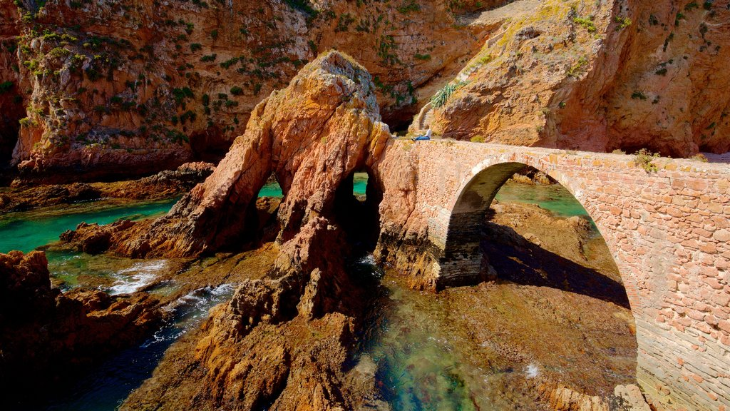 Berlenga Island featuring rocky coastline, heritage elements and general coastal views