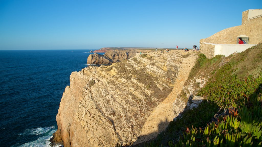 Cape St. Vincent Lighthouse featuring general coastal views, rocky coastline and views